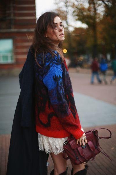 модные oversize свитера