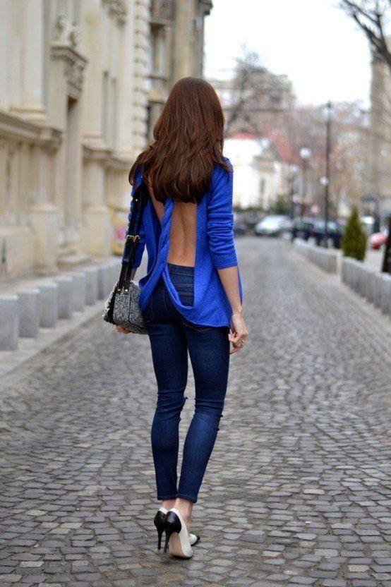 модный свитер открытая спина