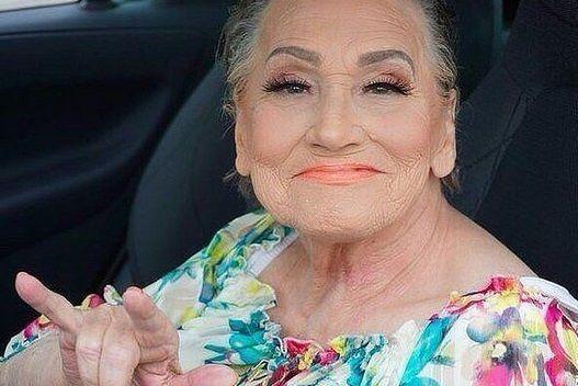 ливия изменила свою бабушку с промощью макияжа хорватия3