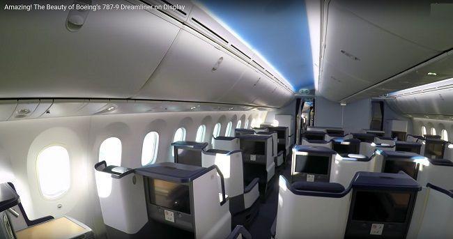 самолет боинг 787 салон